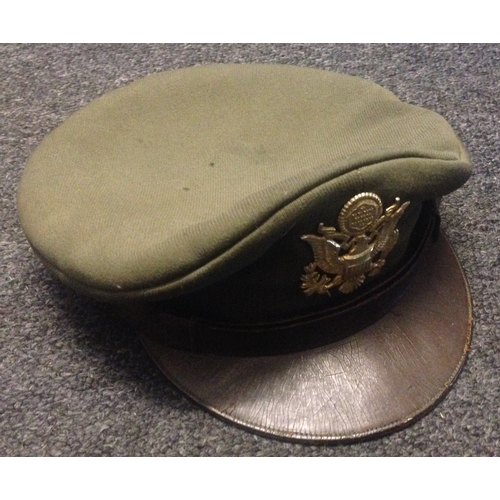 61 - <strong>American- WW2 Officers Cap.</strong><br /><br />U.S.A.A.F. Officers cap.<br />Well use condi...