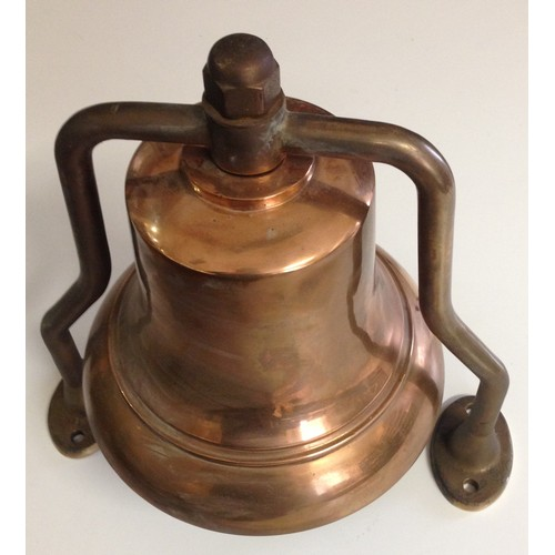 46 - <strong>WW2 Period Ships Bell.</strong><br /><br />Believed to be WW2 period ships bell, un-marked. ...