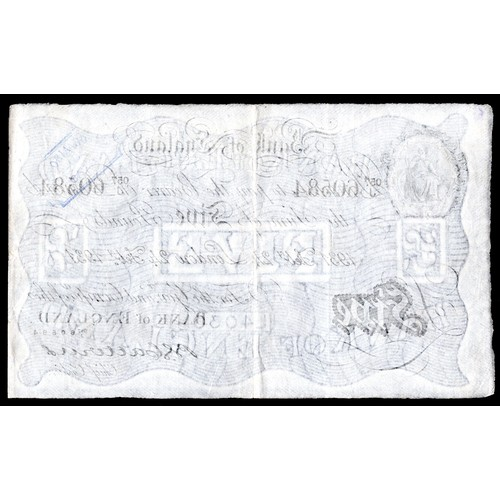 19 - Banknotes, Bank of England, Catterns, £5, 24-2-1931, #057J 60584 (Dugg. 228; WPM 328a). Inked stamp ...