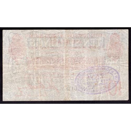 5 - Banknotes, Treasury, Bradbury, Second Issue, 10 shillings, (1915), #A/4 61485 (Dugg. T12; WPM 348a)...