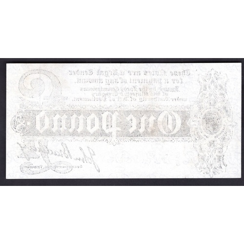 4 - Banknotes, Treasury, Bradbury, First issue, £1 (1914), #E/6 098927 (Dugg.T3.3; WPM 347).Light press...