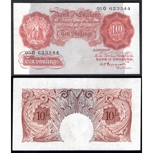 23 - Banknotes, Bank of England, Peppiatt, 10 shillings, (1934), last series, #05O 623544 (Dugg. B236; WP...