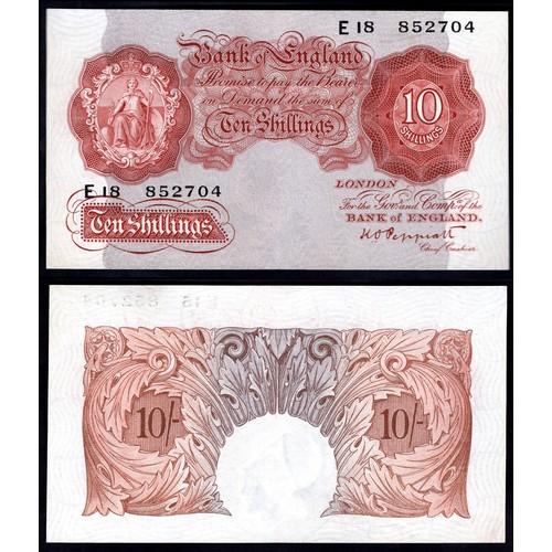 21 - Banknotes, Bank of England, Peppiatt, 10 shillings, (1934), # E18 852704 (Dugg. B235; WPM 363c). Pre...