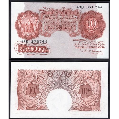 27 - Banknotes, Bank of England, Beale, 10 shillings, (1950), # 48D 376744 (Dugg. B265; WPM 368b). EF....