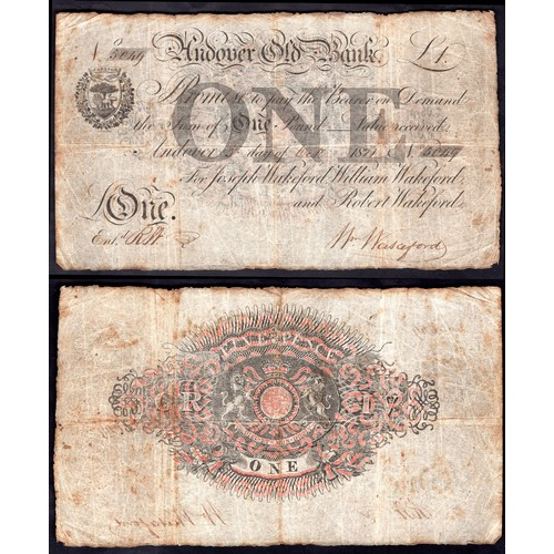 48 - Banknotes, Andover Old Bank, Andover, £1, 18(21), for, (Joseph Wakeford, William Wakeford and Robert...