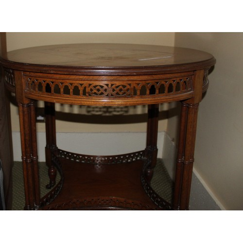 16 - Oak Round Occasional Table. 750mmW x 750mmD x 720mmH...