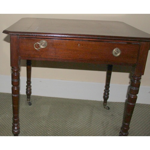 17 - Small Mahogany Writing Table. 760mmW x 590mmD x 740mmH...