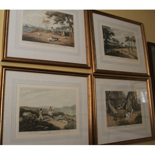 34 - Set of 8 Large Shooting Prints. Partridge, Grouse, Pheasant and Duck. 720mmW x 620mmH....