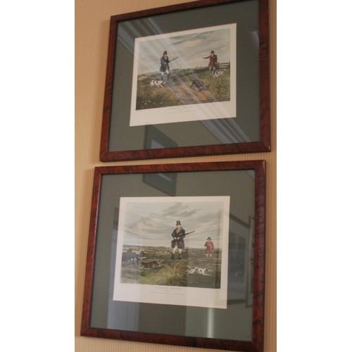 39 - Pair of Partridge Shooting Prints. 1833 S.J. Fuller. 480mmW x 460mmH....