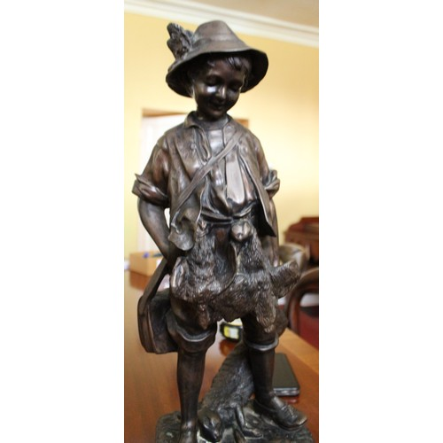 42 - Bronze Figure (Game Collector) 550mmH....