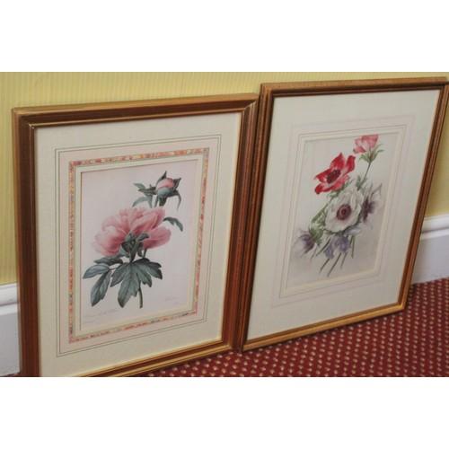 46 - Pair of Flower Prints. 370mmW x 455mmH....