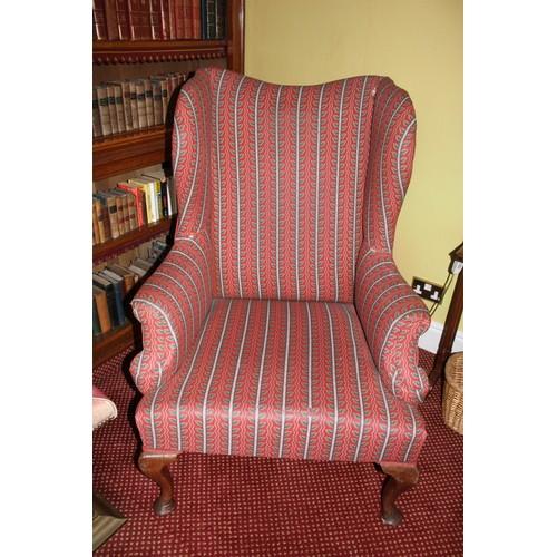 54 - Winged Chair. 800mmW x 750mmD x 1200mmH....
