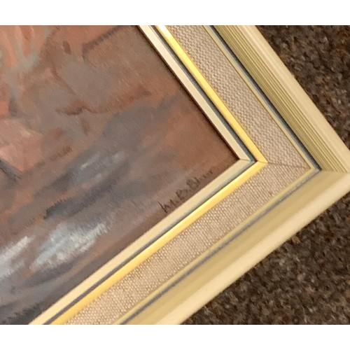 2 - 3 Small framed painting, all signed, measures approx 15
