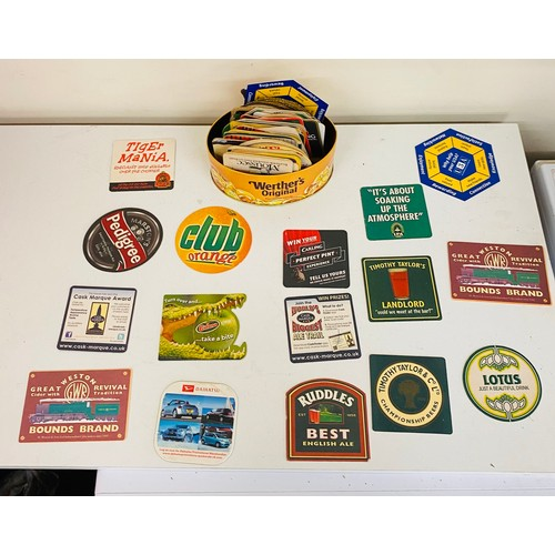 24 - Large selection of vintage beer mats...