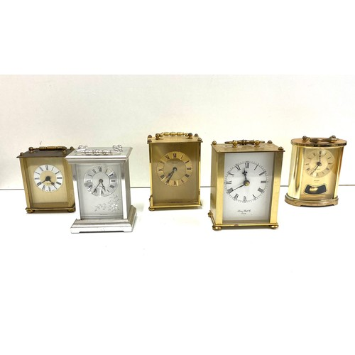 23 - Selection vintage carriage clocks, untested...
