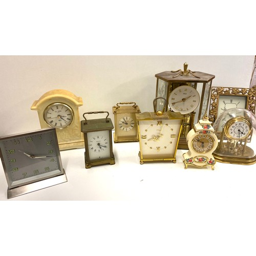 53 - Selection of vintage clocks, all untested...