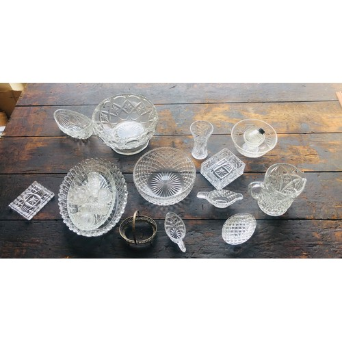 26 - Large selection cut glass pieces, all in overall good condition...