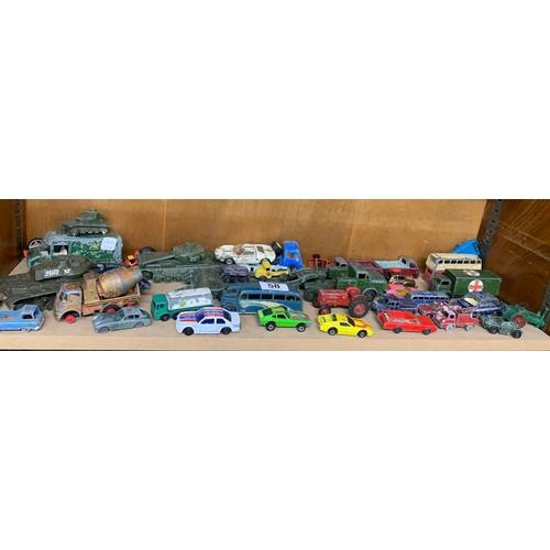 58 - Selection of vintage die cast vehicles...