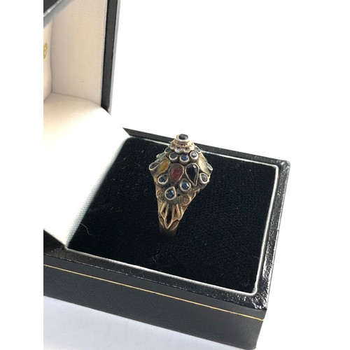 55 - 9ct Gold Hareem gemset ring ring size approx n/o weight approx 3g...