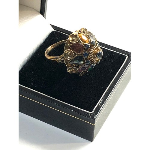46 - 9ct gold hareem ring, ring size approx L...