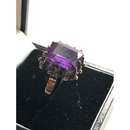 42 - Antique 9ct gold synth alexandrite ring weight approx 6g ring size approx o/p...