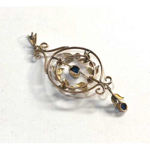 48 - 9ct gold Edwardian pendant, good overall condition...
