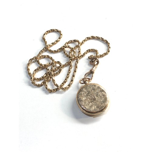 10 - 9ct gold chain and 9ct gold fob watch chain weight 16.3g...