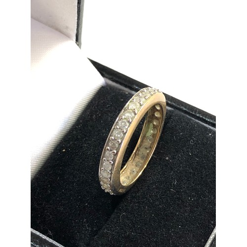 39 - 9ct gold eternity ring, ring size approx o/p weight approx 2g...