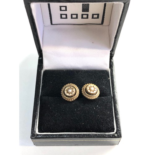 29 - Antique 9ct Gold pearl studs...