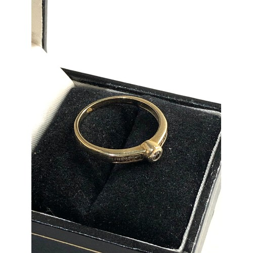 59 - 9ct gold diamond ring ring size approx Q/R weight approx 1.6g...