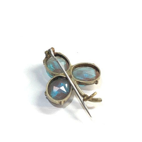 13 - Antique victorian saphiret brooch each stone measures approx 13mm by 11mm, brooch is in good overall...