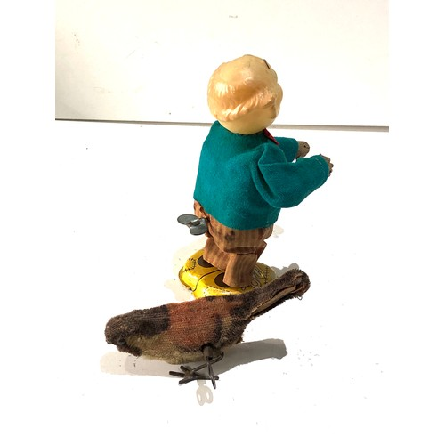 37 - Vintage wind up mechanical bird and man toys will not wind or work age related wear...