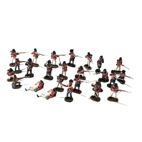 57 - Selection of 25 vintage lead del Prado military soldier figures...