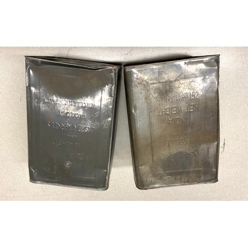 35 - 2 Vintage Cashew kernals tins, approximate measurements: 13.5 inches, width 9.5 inches...