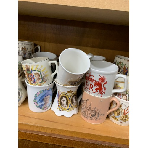 59 - Large selection of commemorative mugs, approximately 32, all in good overall condition...