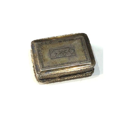 24 - Antique Georgian silver vinaigrette missing interior