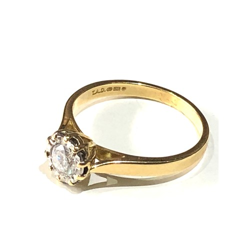 37 - 18ct gold diamond ring .33ct diamond...