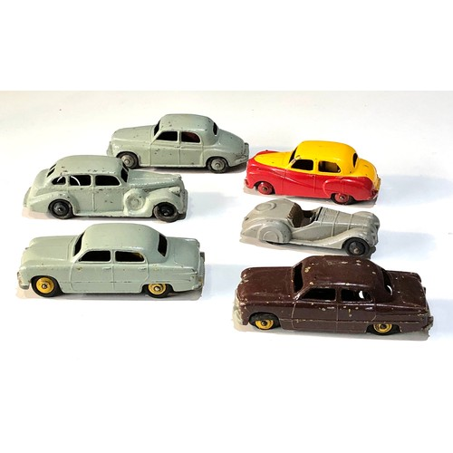 448 - Selection of vintage Dinky cars  played worn condition