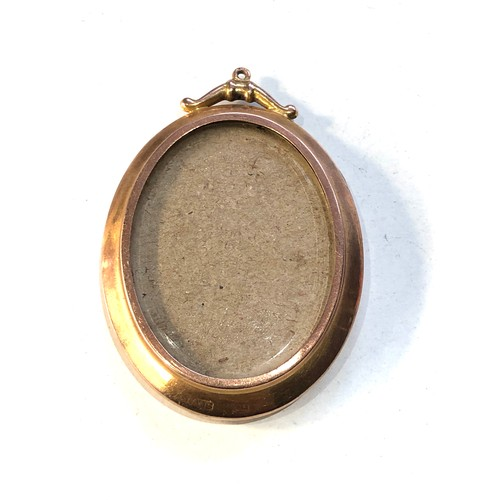 54 - Antique 9ct  gold picture pendant measures approx 5.1cm by 3.5cm weight 10.8g...