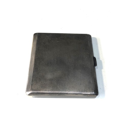 12 - Antique engine turned silver cigarette case weight 120g...
