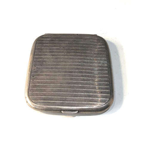 4 - Antique silver cigarette case weight 90g...