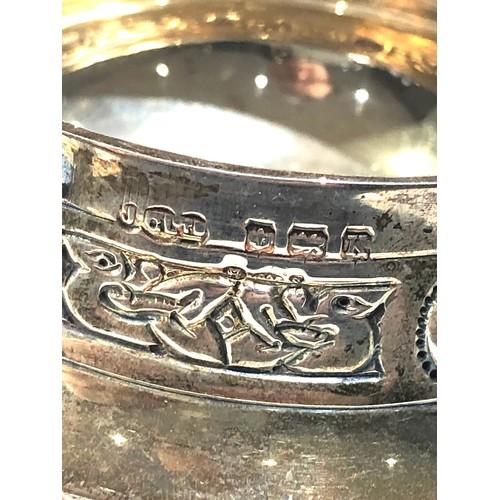 49 - Vintage Hallmarked celtic design sterling silver sugar bowl measures approx 12.5cm handle to handle ...