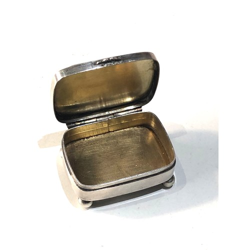 43 - Scottish silver and hard-stone set pill box in good condition not hallmarked but tested as silver me...