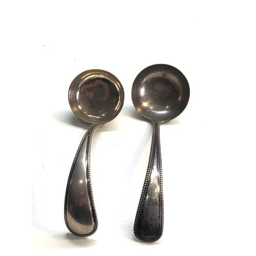 29 - 2 antique dutch silver ladles weight 115g