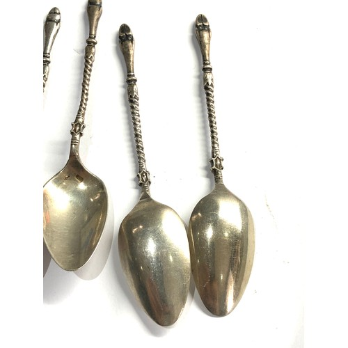 31 - 6 antique dutch silver coffee spoons weight 62g