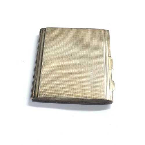 53 - Antique silver and enamel cigarette case chester silver hallmarks weight 112g