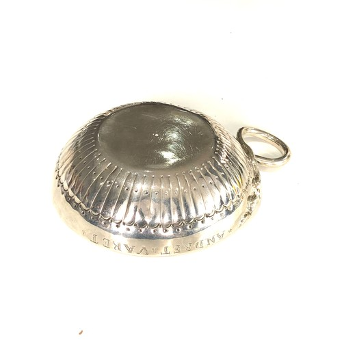 9 - Fine 18th century French silver wine taster measures approx 12cm by bowl 9.5cm dia full hallmarks to...