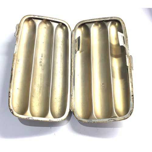33 - Fine antique silver 3 section cigar holder Birmingham silver hallmarks