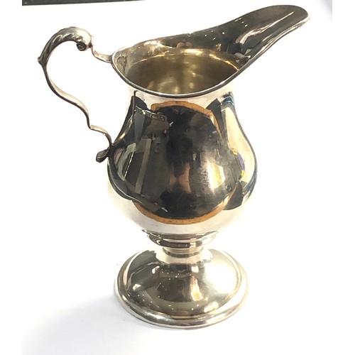38 - Antique silver cream jug birmingham silver hallmarks weight 107g