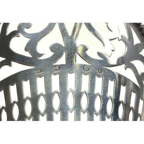 41 - Antique pierced dutch silver sweet dish measures approx 16cm by 11cm weight 74g dutch silver hallmar...